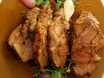 Karkówka marynowana w musztardzie i occie balsamicznym