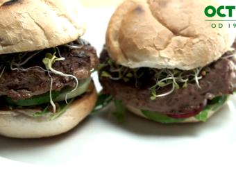Zdrowe burgery wołowe z musztardą francuską